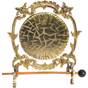 Victorian Burmese Dinner Gong Gilded Brass and Bronze