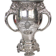 1908 Sports Trophy - NATIONAL & Newark German Athletic Clubs - Art Nouveau Loving Cup