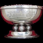 """Silver Golf Trophy - Figural 1968  KARUIZAWA GOLF CLUB """"Asama Cup"""""""