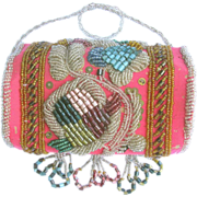 Antique Native Beaded Purse - Iroquois Bead Work