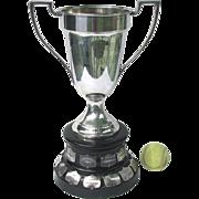 Large Vintage Tennis Trophy - 1931 Port Hope Tennis Ladies Singles