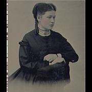 SOLD Tintype Pretty Lady Vignetted Portrait - Pristine