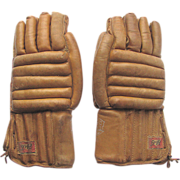 SOLD Vintage Leather Hockey Gloves by D&R ALL STAR 120