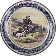 Royal Doulton Sporting Plate c1935 Scottish Bird Hunter with Dogs shooting Quail & Pheasan