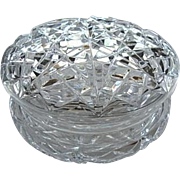 Vintage Vanity Powder Bowl/Dresser Box Cut Crystal
