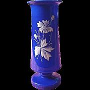 Victorian Bristol Blue Glass Vase