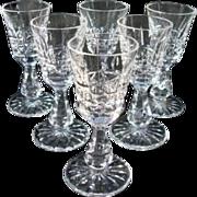 """Vintage Waterford Crystal Liqueur - Cordial  Glasses """"Kylemore"""""""