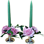 Pair Sterling Silver Candle Holders - Candle Sticks - Birks