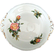 "Vintage Paragon ""Rendezvous"" Cake Plate - Six World Famous Roses Series - Harry Whea"