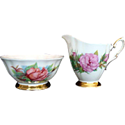 "Vintage Paragon ""Rendezvous"" Open Sugar Bowl and ""Prelude"" Milk Jug - Harr"