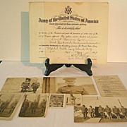 World War I American Soldier's Memorabilia Photos Paperwork