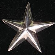 Huge Signed Taxco Sterling Silver 925 Star Pendant Brooch