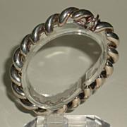 Italian Sterling Silver Twist Link Bracelet
