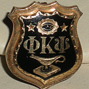 Phi Kappa Psi 1931 Oklahoma University Fraternity Member's Pin Badge