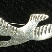 Taxco Mexican Sterling Seagull Bird Pin Brooch