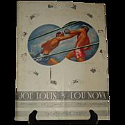 1941 Joe Louis v Lou Nova World Heavyweight Championship Program Polo Grounds
