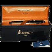 Vintage Waterman Expert GT Ballpoint Pen Black and Golden