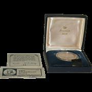 Rare Platinum Franklin Mint 1971 Apollo 15 Proof Medal MIB