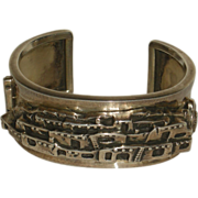 Vintage Carol Felley Sterling Silver Pueblo Cuff Bracelet