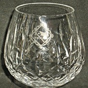 Texas Lone Star Etched Waterford Lismore Brandy Snifter