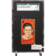 T205 MORDECAI BROWN-Hall of Famer-SGC grade 55 VG/EX+ 4.5