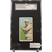 REDUCED T206 RED KLEINOW - New York, with Bat SGC grade 10 POOR 1