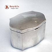 Art Deco 800 Silver Box R. Miracoli Milan 1940