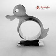 Sterling Silver Figural Bunny Napkin Ring 1930