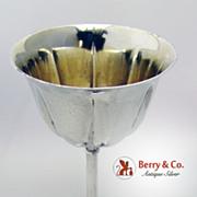 Hammered Goblet German 800 Silver 1890