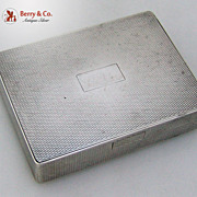 Engine Turned Pocket Box Sterling Silver Spaulding Gorham 1940