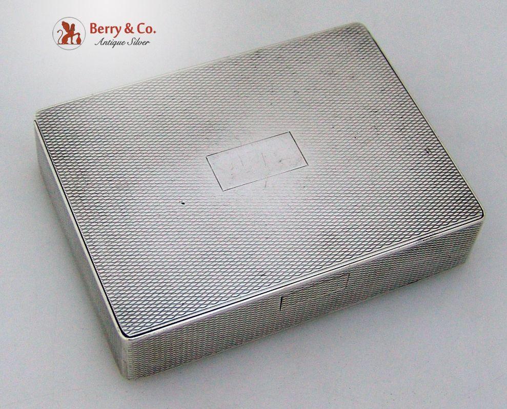 Engine Turned Pocket Box Sterling Silver Spaulding Gorham 1940