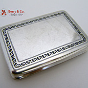 Greek Key Rectangular Box 800 Silver 1890