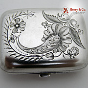 Russian 84 Standard Silver Purse Bright Cut 1890