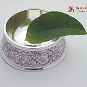 Ornate Acid Etched Bowl Sterling Silver William Kerr 1890