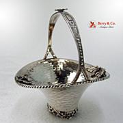 Grape Basket Hand Made Greek Sterling Silver 1960 No Monogram