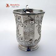 Octagonal Coin Silver Cup 1850