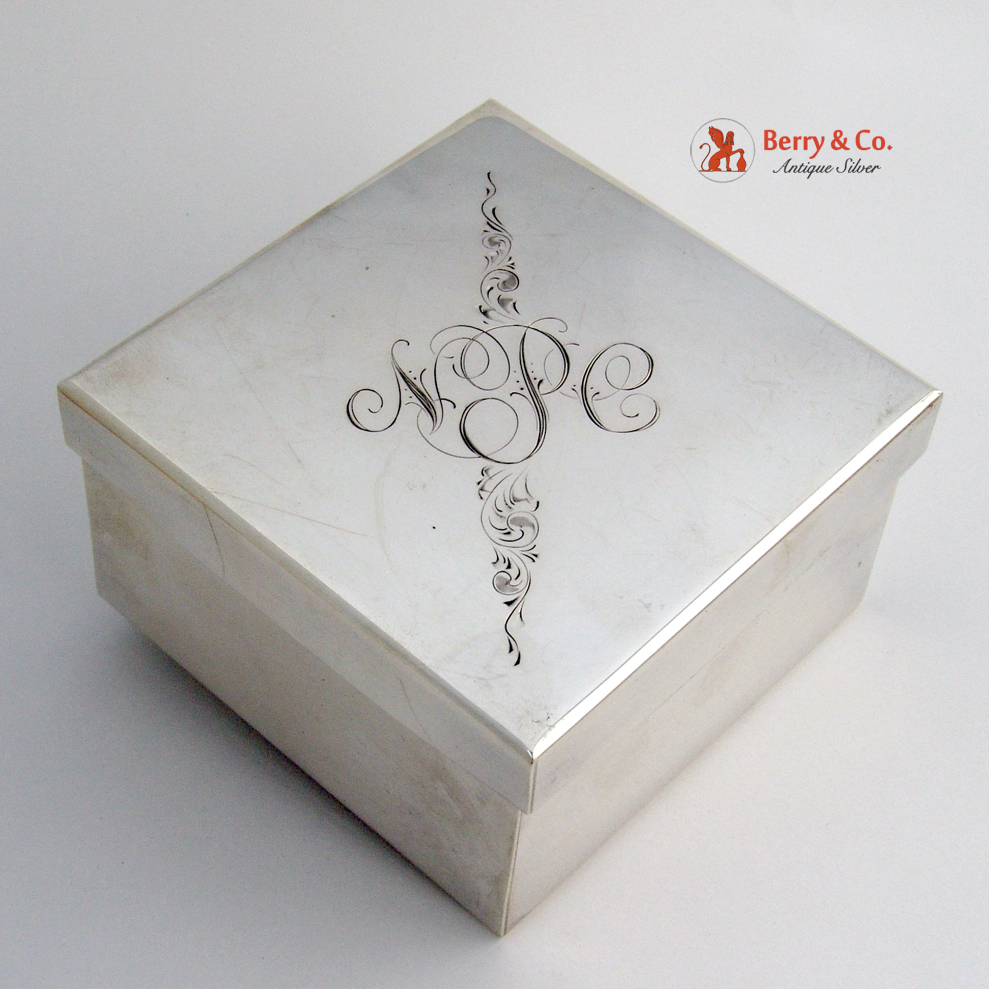 Sterling Silver Large Jewelry Box 25th Anniversary