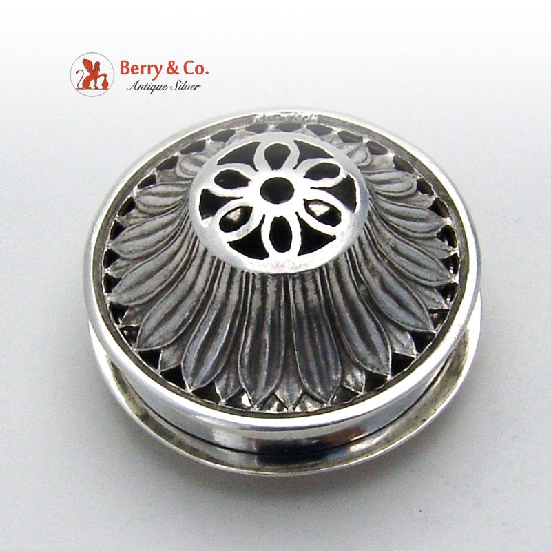 Miniature Antique Incense Burner German 800 Standard Silver Hanau 1890