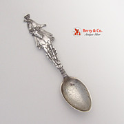 SOLD A Western Girl Souvenir Spoon Mayer 1900 Sterling Silver