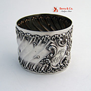 French Baroque Napkin Ring Sterling Silver 1900