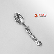 Boston Skyline Souvenir Spoon Paye Baker Sterling Silver 1900