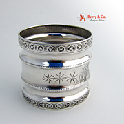 Aesthetic Coin Silver Napkin Ring 1880