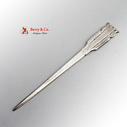 Vintage Arrow Form Letter Opener Hand Made Sterling Silver 1930