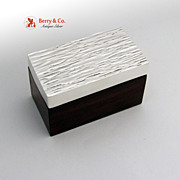 Art Modern Dresser Box Sterling and Rosewood 1960