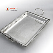 Antique Rectangular Tray Hester Bateman Sterling Silver 1781