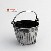 Antique Chinese Export Silver Miniature Basket