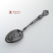 California Souvenir Spoon Los Angeles Orange Bowl Meyer Sterling Silver 1895