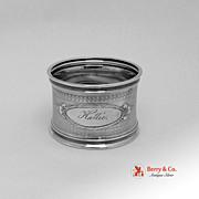 American Coin Silver Napkin Ring