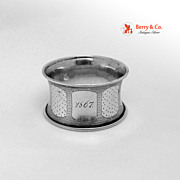 French Sterling Silver Napkin Ring