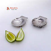 A Pair of Small Shell Serving Bowls  Sterling Silver Maciel